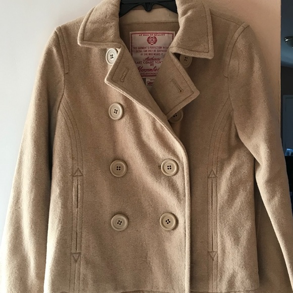 Abercrombie & Fitch Jackets & Blazers - Abercrombie & Fitch Vintage peacoat